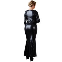 Kleid aus Wetlook, mit Reißverschluss bis zum Knie