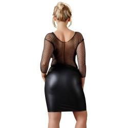 Minirock aus matt glänzendem Stoff, schwarz