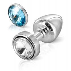 Analplug »ANNI Magnet T1 crystal/blue«, 2,5 cm Ø