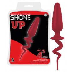 Analplug »Shove Up« mit Ringelschwanz, 18,5 cm, rot