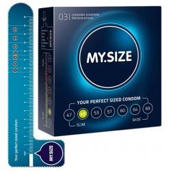 Kondome »MY.SIZE 49 mm«, mit wenig Eigengeruch, 3er