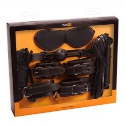 6-teiliges Set »Ultimate Bondage Set«, Maske, Knebel, Peitsche, Seil, Fesseln