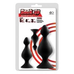 Set »Butt Plug« 3-teilig, schwarze Analplugs in drei Größen