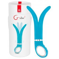 """Vibrator """"Gvibe²"""", zweiarmig, mit 3 Motoren, blau"""