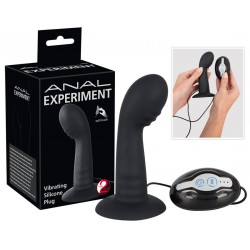 Analplug »Anal Experiment«, mit Saugfuß, 7 Vibrationsmodi, schwarz