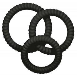 3-teiliges Penisringset »Lust³ Black«