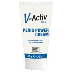 »V-Activ Penis Power Cream«, mit ätherischen Extrakten, 50 ml