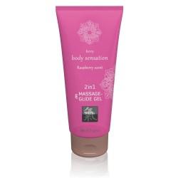 Massage- und Gleitgel »2in1 Raspberry Scent«, 200 ml