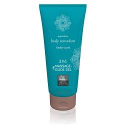 Massage- und Gleitgel »2in1 Amber Scent«, 200 ml