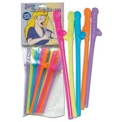 10-teiliges Set Trinkhalme »Dicky Sipping Straws«, verschiedene Farben, unsortiert