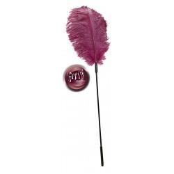Federstab mit Straußenfeder, pink
