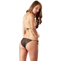 Bikini aus weichem Tüll mit dekorativen Schleifenbändern