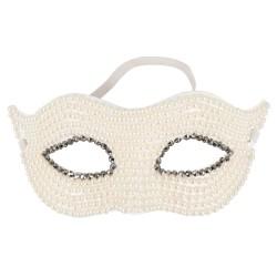 Augenmaske mit Perlen