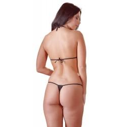 Body, ouvert, mit Neckholder und Strassverzierung, schwarz